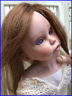 14 OOAK Artist Doll Porcelain Limited Chloe By Monica Montoya Signed & COA