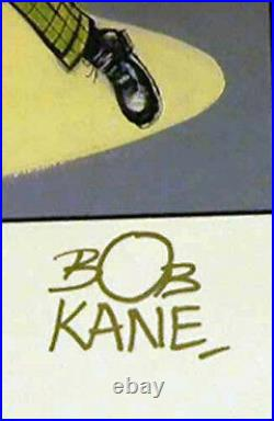 1989 Batman Golden Years Limited DC Hand Signed Bob Kane Coa Joker Robin Catwoma