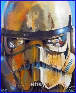 A0 star wars canvas print limited COA by andy baker Australia art painting