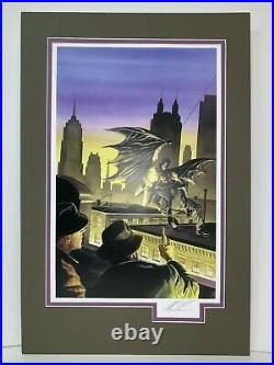 ALEX ROSS signed BATMAN Limited Edition print 36/100, with COA, matted