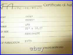ART DECO Limited Edition 189/300 ERTE Serigraph SIGNED Ondee COA - Rare