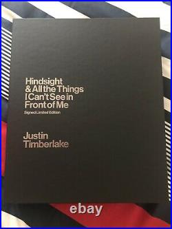 AUTOGRAPHED SIGNED Justin Timberlake Hindsight Book Numbered Limited + COA