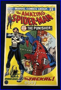 Amazing Spider-Man 129 Litho Signed by Stan Lee with COA John Romita Art LIMITED