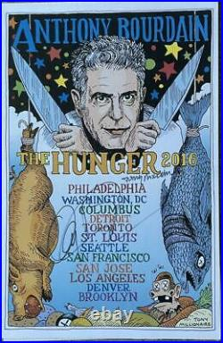 Anthony Bourdain Signed Autograph Very Rare The Hunger Limited Tour Poster Coa B