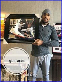 Anthony Joshua Framed Limited Edition Boxing Boot Private Signing AFTAL COA