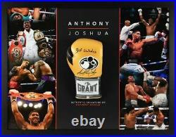 Anthony Joshua Signed & Framed Boxing Glove RARE LIMITED EDITION PROOF AFTAL COA