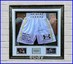 Anthony Joshua Signed & Framed Boxing Trunk RARE LIMITED EDITION PROOF AFTAL COA