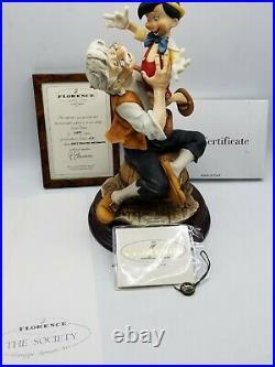 Armani Disney Pinocchio and Geppetto A Father's Love Limited Ed w COA
