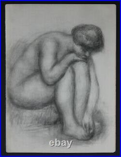 Auguste Renoir 1923'Nude' Lithograph B&W Limited Edition 500 Not Signed w. COA