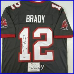 Autographed/Signed TOM BRADY Pewter Nike Limited Buccaneers Jersey Fanatics COA