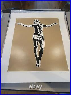 Blek le Rat Jesus (Gold) 2008 limited edition Signed Print with COA Banksy