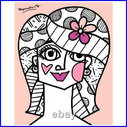 Britto Hair Do Hand Signed Limited Edition Giclee on Canvas COA