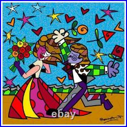 Britto I Love You Hand Signed Limited Edition Giclee on Canvas COA