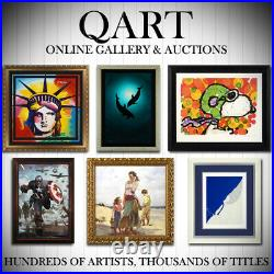 Britto Toast To Love Glasses Hand Signed Limited Edition Giclee on Canvas COA