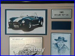 CARROLL SHELBY AUTOGRAPHED SIGNED LIMITED EDITION COMM DISPLAY 112/1965 With A COA