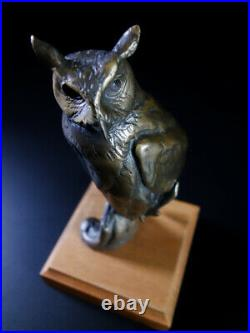 Chester Comstock, Bird The Great Horned Owl Original Bronze with COA Limited