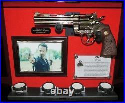Colt Python Walking Dead Gun Display Signed Rick Grimes LIMITED EDITION! COA