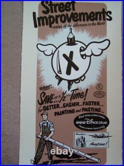 Dface Street Improvements 4 (brown) Rare Limited Edition Print + Coa