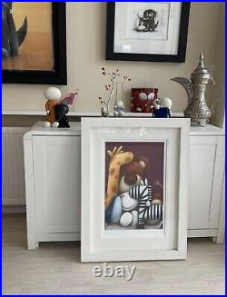 Doug Hyde. Old Friends Limited Edition Print. Brand New White Frame. With COA