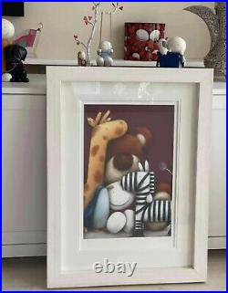 Doug Hyde Old Friends Limited Edition Print. Framed in White Lopez. With COA