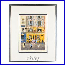 Drapeaux By Michel Delacroix Signed Limited Edition Framed Litho 22x18 With CoA