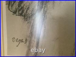 Edgar Degas Limited Ed. Heliogravure, 1922, Signed, Coa, Equisite Frame