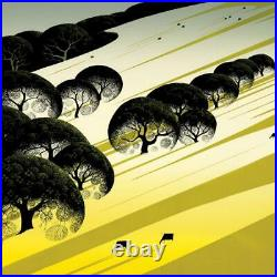 Eyvind Earle Cattle Country Hand-Signed Limited Edition Serigraph COA