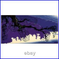 Eyvind Earle Purple Coastline Hand-Signed Limited Edition Serigraph COA