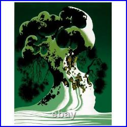 Eyvind Earle Snow Covered Bonsai Hand-Signed Limited Edition Serigraph COA