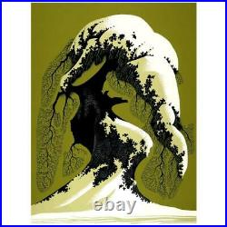 Eyvind Earle Snow Laden Hand-Signed Limited Edition Serigraph COA