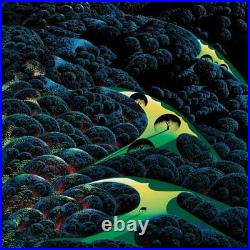 Eyvind Earle Three Pastures On A Hillside Signed Limited Edition Serigraph COA