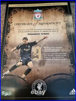 Fernando Torres Limited Edition Signed Liverpool Shirt With COA