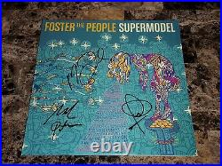 Foster The People Rare Band Signed Limited Vinyl LP Record Supermodel COA Photo