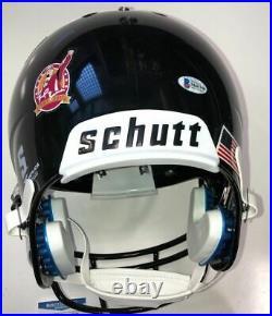 Frank Beamer Signed Virginia Tech Hokies 25 Limited Full Size Helmet Beckett Coa