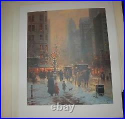 G Harvey EVENING ALONG THE AVENUE S/N paper Limited Edition in folder withCOA #21