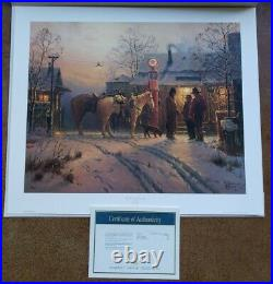 G. Harvey THE WARMTH OF FRIENDSHIP Print with COA 714/1500 Limited Edition 1996