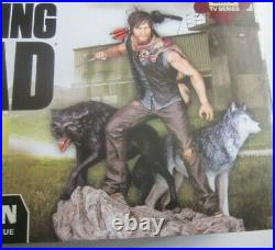 Gentle Giant Walking Dead Daryl Dixon &Wolves Limited Edition Statue Signed COA