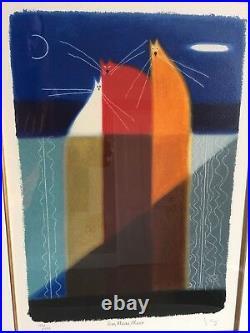 Govinder'Eeni, Meeni, Minee' cats limited edition silkscreen print. COA 115/195