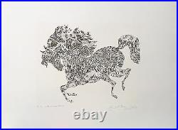 Guillaume Azoulay L'arlechino Limited Edition Etching On Paper H/signed Coa
