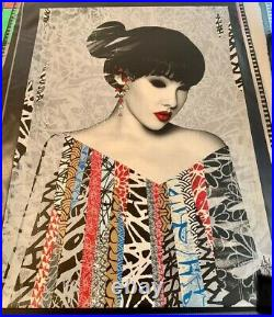 HUSH'Poise' limited edition screen print with COA