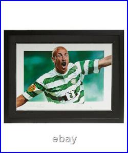 Henrik Larsson Framed Celtic Signed Limited Edition Football Art Photo Coa Proof
