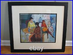 ITZCHAK TARKAY Limited Edition Silkscreen Serigraph LATE NIGHT OUT c1976 w COA