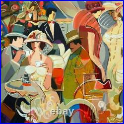 Isaac Maimon Cafe Romantique Signed Limited Edition Serigraph With COA