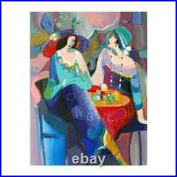 Isaac Maimon Pastel Gathering Signed Limited Edition Serigraph With COA