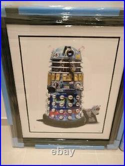 JJ ADAMS'BRIAN' Rare Limited Edition Framed Dalek Print (with COA)