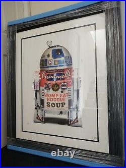 JJ ADAMS'R2D2' LIMITED EDITION PRINT RARE FRAMED with COA NEVER DISPLAYED