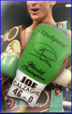 JOE CALZAGHE signed glove LIMITED EDITION In A Dome Frame AFTAL Coa