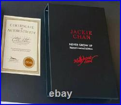Jackie Chan Signed Limited Edition Book Special Box Never Grow Up COA
