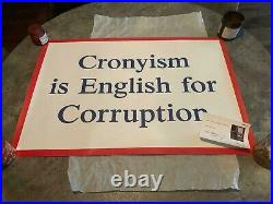 Jeremy Deller Cronyism Is English For Corruption Limited Print with COA