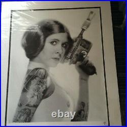 Jj Adams Princess Leia Rare Limited Edition Star Wars Framed Print + Coa